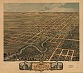 Bird's eye view of the city of Rochester, Olmsted County, Minnesota 1869. LOC 73693462.jpg