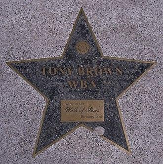 Tony Brown (English footballer) - Brown is honoured in the Birmingham Walk of Stars on Broad Street, Birmingham.