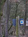 Blaumeise auf morschem Wegweiser März 2012.JPG