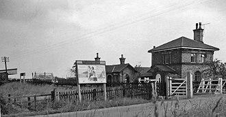 Bleasby railway station - Image: Bleasby railway station 1832595 f 0b 9814e