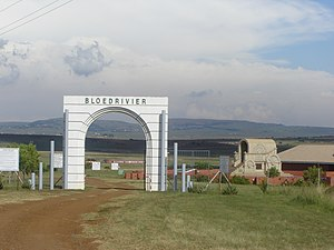 Battle of Blood River - Entrance to the Battle of Blood River Monument in Kwazulu-Natal