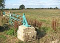 Blue gate by field east of Wash Lane - geograph.org.uk - 1543469.jpg