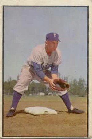 Bobby Morgan (baseball) - Image: Bobby Morgan 1953bowman