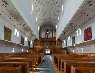 Bodø Cathedral - Image: Bodø Cathedral, Nave and Organ 20150608 1