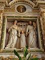 Bodilis (29) Église Notre-Dame Autel et retable de la Sainte-Famille 02.JPG