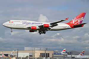 Cosmic Girl (airplane) - Cosmic Girl with Virgin Atlantic livery as G-VWOW in 2013