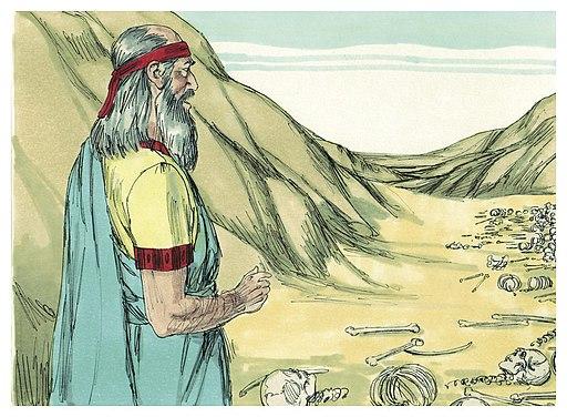 Book of Ezekiel Chapter 37-1 (Bible Illustrations by Sweet Media)
