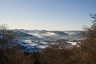 Olsberg, Germany - View of Olsberg and Bigge