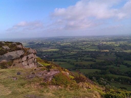 Bosley Cloud facing Cheshire
