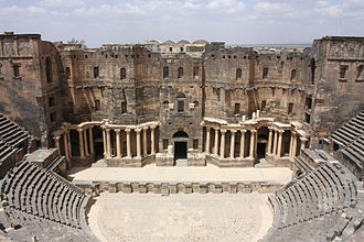 Roman Theatre at Bosra - Image: Bosra, theatre