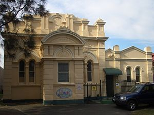 Botany, New South Wales - Botany School of Arts  (1867), Botany Road