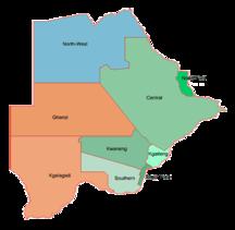 Botswana-Suddivisione amministrativa-Botswana.geohive