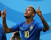 84fa2f46f74ce Neymar comemorando seu primeiro gol na Copa, em cima da Seleção  Costarriquenha.