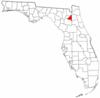 Location of Bradford County