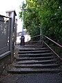 Braník, schodiště z ulice Na rozhledu, horní konec.jpg
