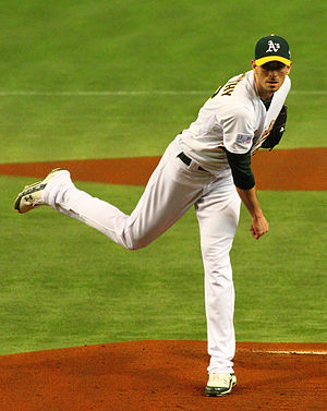 Brandon McCarthy - McCarthy pitching for the Oakland Athletics in 2012
