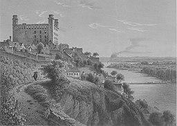 Bratislava Castle, mid-1800s