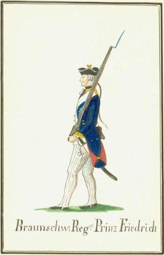 Brunswick Troops in the American Revolutionary War - Musketeer Regiment Prinz Friedrich.