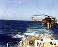 Brazilian Westland Wasp over USS Mahan (DDG-42) 1977.jpg