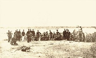 Imperial Brazilian Navy and army troops during the Siege of Paysandu, 1865 Brazilians during the siege of Paysandu.jpg