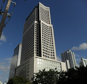 Brickell World Plaza - Image: Brickell Financial Centre I (Brickell World Plaza) March 2011