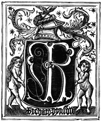 Robert Fabyan - Mark of Richard Pynson, who printed Fabyan's Chronicle