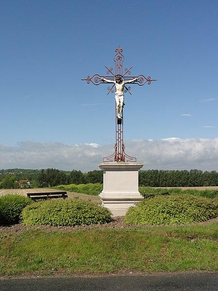 Brissay-Choigny (Aisne) croix de chemin nord