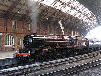 Mainline steam trains in Great Britain - Princess Elizabeth at Bristol Temple Meads during a railtour