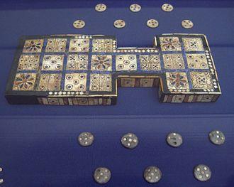 Royal Game of Ur - Image: British Museum Royal Game of Ur