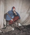 British Photographer Roger Fenton dressed as a Zouave infantryman, Crimea, 1855. (48091197306).png