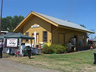 Powerland Heritage Park - Image: Brooks Oregon Railroad Depot