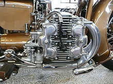 Px Brough Superior Golden Dream Close Up on Brm H16 Engine