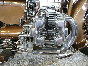 H engine - Brough Superior H-4 motorcycle engine