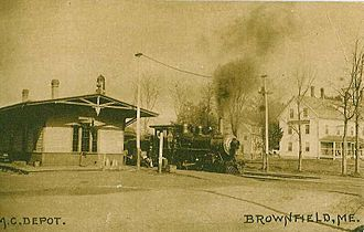 Brownfield, Maine - Image: Brownfield Depot