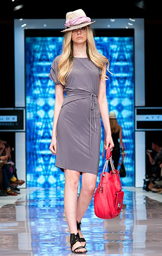 Toronto Fashion Week - Model Bryanna Elkins walks the runway modeling fashions by Jay Manuel at Toronto Fashion Week, September 2011.