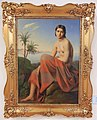 Budapest, château de Buda, Galerie nationale hongroise (Magyar Nemzeti Galéria), Ágost Elek CANZI (1808-1866), Portrait de femme, 1845.JPG