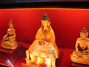 Namgyal Institute of Tibetology - Image: Buddha statue in Gangtok Museum