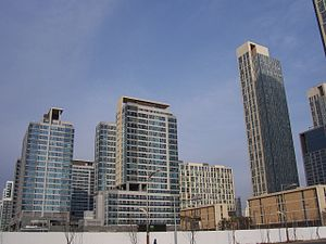 Songdo The Sharp First World - Image: Buildings in New Songdo City