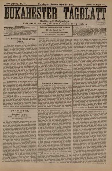 File:Bukarester Tagblatt 1911-08-18, nr. 184.pdf