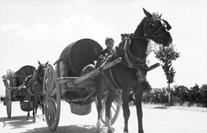 Sweeney Prizery - Transporting goods in hogsheads