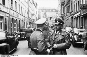 German occupation of Luxembourg during World War II - Heinrich Himmler visiting Luxembourg in July 1940