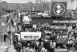 Industrieverband Fahrzeugbau - IFA at the Leipzig Trade Fair in 1986