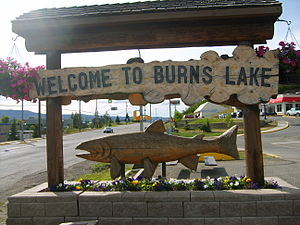 Burns Lake - Burns Lake's welcome sign