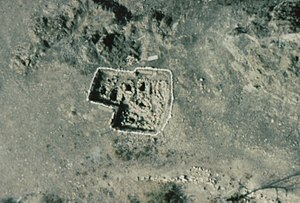 Al-Bustan, Oman - Aerial view of excavated Late Iron Age graves at al-Bustan.