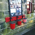Butterley railway station, Derbyshire, England -three buckets-19Jan2014.jpg