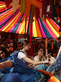 Buying and selling at Dilli Haat's Nature Bazaar.jpg