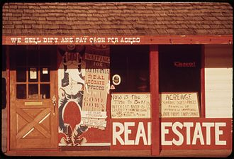 Shelter Cove, California - Real estate sales office, 1972