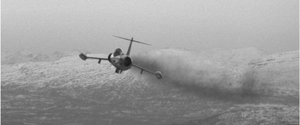 Widerøe Flight 933 - A CF-104 Starfighter during the search for LN-BNK