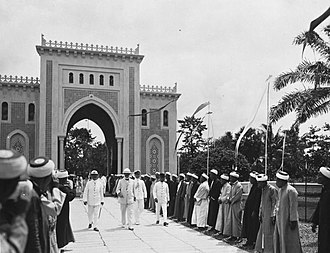 Great Mosque of Medan - Governor-General Dirk Fock visiting the Great Mosque, 1925