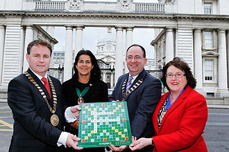 Institute of Certified Public Accountants in Ireland - Irish Accountancy Bodies lobby for protection of the term 'accountant', from left to right: Cormac Fitzgerald (CPA Ireland), Anne Keogh (ACCA), Brendan Lenihan (Chartered Accountants Ireland) and Louise Connaughton (CIMA).
